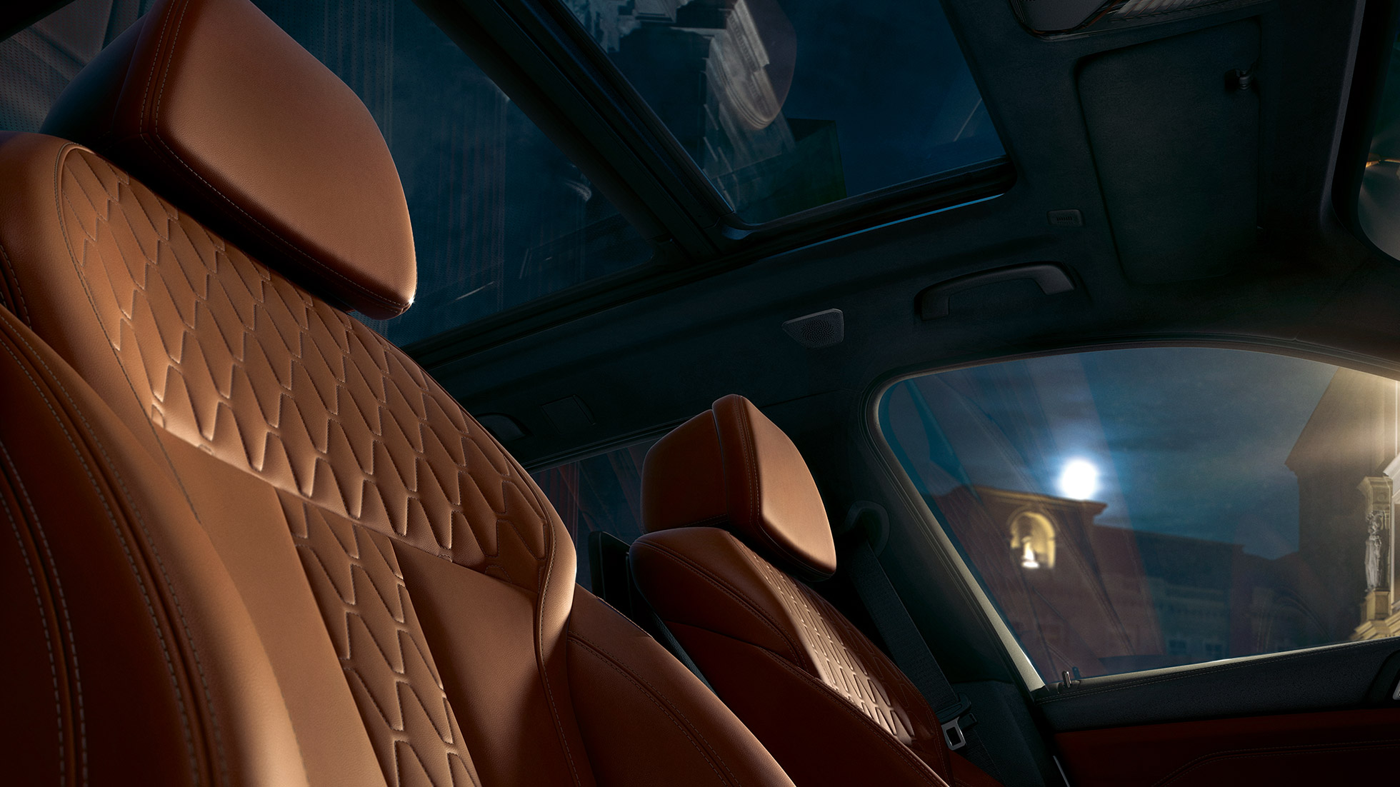 Lederen zetels BMW X5 G05 2018 interieur